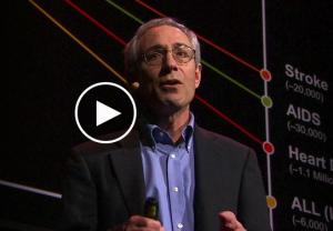 Thomas Insel snakker på TED. Ill.: TED.com