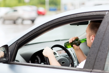 Sjåfør som drikker