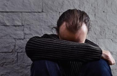 Deprimert mann