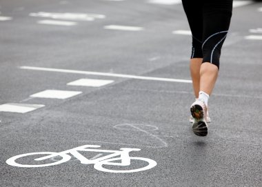 jogging på asfalt