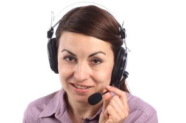 kvinne med headset