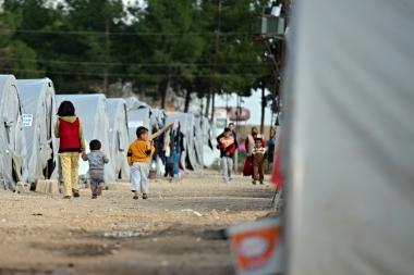 Barn i flyktningleir